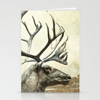 reindeer Stationery Cards featuring Reindeer by ZenzPhotography