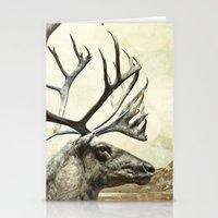 reindeer Stationery Cards featuring Reindeer by BlueMoonArt