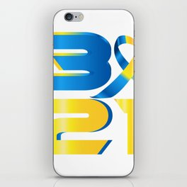 Down Syndrome Awareness 21 iPhone Skin