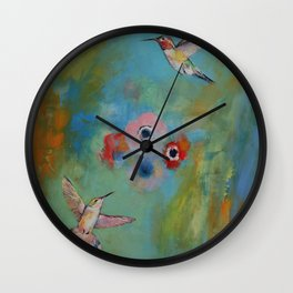 Hummingbirds Wall Clock