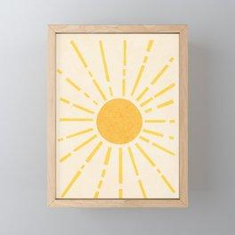 Sun Framed Mini Art Print