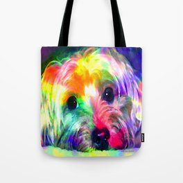 Colorful Yorkie By Annie Zeno  Tote Bag