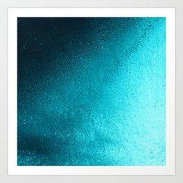 Modern abstract navy blue teal gradient Kunstdrucke