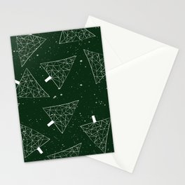 Christmas Trees Green Stationery Cards