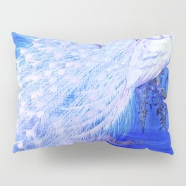 White Peacock at Twilight Pillow Sham