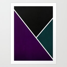 Noir Series - Purple & Green Art Print