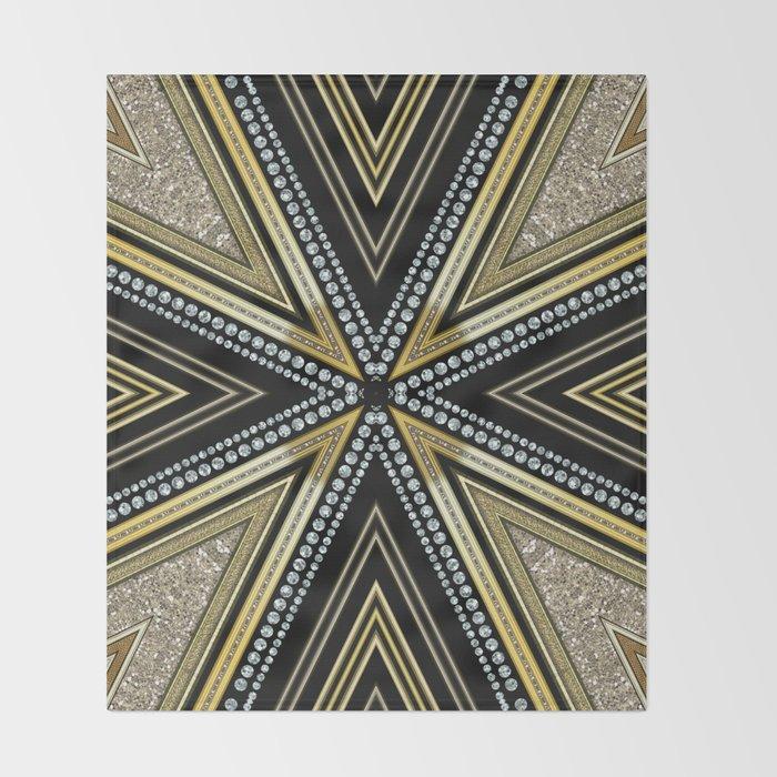 Glam Cross Star Throw Blanket