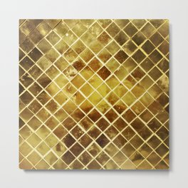 gold plated Metal Print