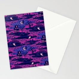 Halloween Night - Mystic Violet  Stationery Cards