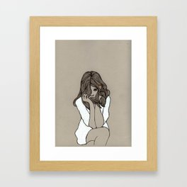 I'm so bored with everything Framed Art Print