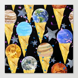 Univers with Planet of the solar system. Canvas Print