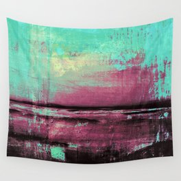 Green Color Patches Wall Tapestry