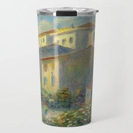 """Pierre Auguste Renoir """"Vue de la poste à Cagnes"""" Travel Mug"""