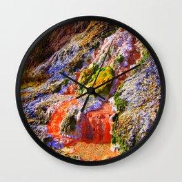 RAINBOW MINERAL WATERFALL Wall Clock