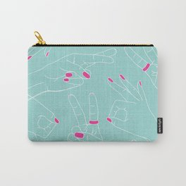 Emoji Hands - Mint Carry-All Pouch