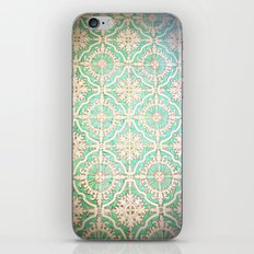 Turquoise Vintage Pattern iPhone & iPod Skin