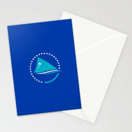 flag of Pacific Community or SPC Stationery Cards