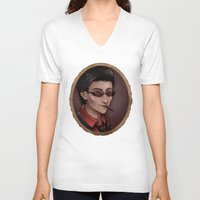 crowley V-neck T-shirts featuring Crowley by Abbi Laura