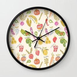 Veggies and Fruits Wall Clock