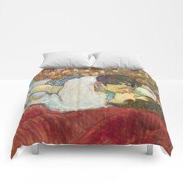 """Henri de Toulouse-Lautrec """"In Bed. The Kiss"""" Comforters"""
