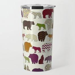 bear wolf geo party Travel Mug