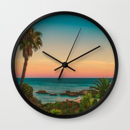 Warm Sunset Tropics (Color) Wall Clock