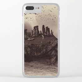 Druid Golf Sepia Clear iPhone Case