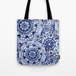 Delft Blue Mandalas Tote Bag