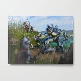 Lake Monster Metal Print