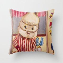 Mr. Tastee Throw Pillow