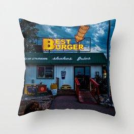 Best Burger Throw Pillow