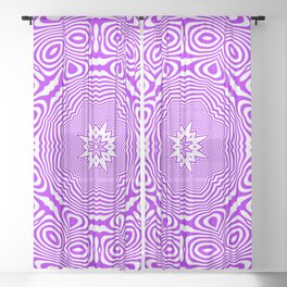 Wavy Purple Kaleidoscope 2 Sheer Curtain