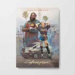 cyberpunk 2077 Metal Print