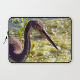 Tri-Color Heron Laptop Sleeve