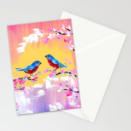 Sunset and Cherry Blossom Stationery Cards