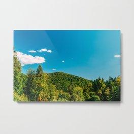 Carpathian Mountains Landscape, Summer Landscape, Transylvania Mountains, Forests Of Romania Metal Print