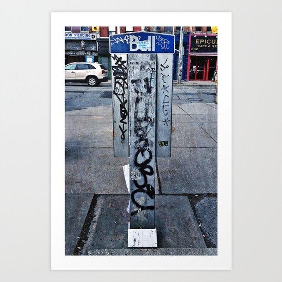 Phone Booths Have Seen Better Days Art Print
