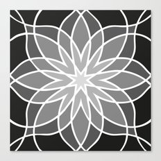 Shades of Grey | Geometric Pattern Canvas Print