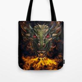 Digital dragon head Tote Bag