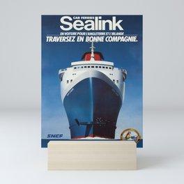 Advertisement sealink. 1982 Mini Art Print
