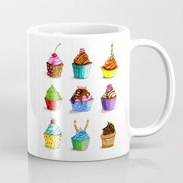 Illustration of tasty cupcakes Coffee Mug