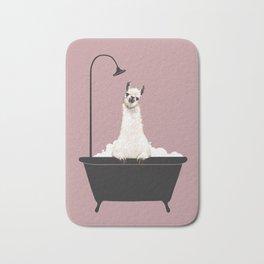 Llama in Bathtub Bath Mat
