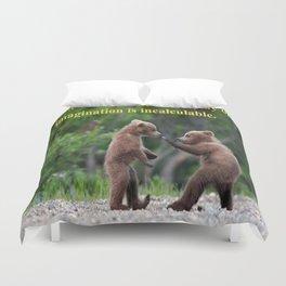 Baby Bears at Play Duvet Cover