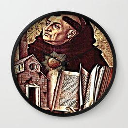 Altar of San Domenico in Ascoli, polyptych, St. Thomas Aquinas Wall Clock