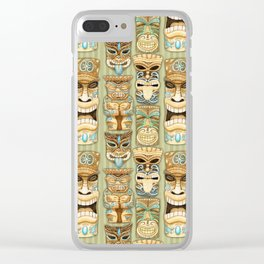 Tropical Hawaiian Deluxe Tiki Party Pattern Clear iPhone Case