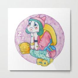 Umie & Mochi VII Metal Print