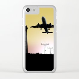 ATC: Air Traffic Control Tower & Plane Clear iPhone Case