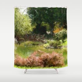 garden Watercolor Shower Curtain