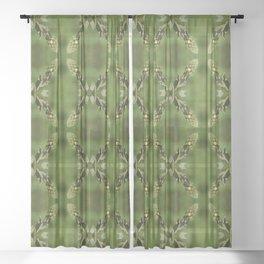 Sparkling Verbascum Thapsus Mullein Plant Sheer Curtain