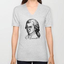 Wolfgang Amadeus Mozart sketch Unisex V-Neck